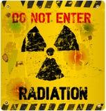 Radiation warning, Royalty Free Stock Images