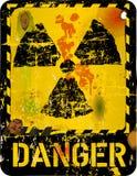 Radiation warning. Grungy style,vector illustration stock illustration