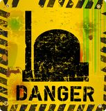 Radiation warning Stock Photography