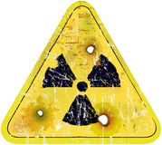 Radiation warning sign Stock Photos