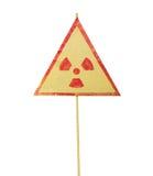 Radiation warning sign Royalty Free Stock Image
