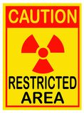 Radiation warning sign. Restricted area. stock photography