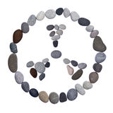Radiation warning sign of stones Stock Photos