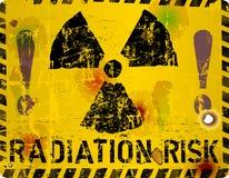 Radiation warning sign, vector illustration. Radiation risk warning sign, grungy and distressed, vector illustration vector illustration
