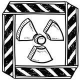 Radiation warning sketch stock illustration