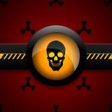 Radiation warning skull icon   illustration eps 10 Royalty Free Stock Photo