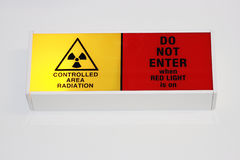Radiation Warning Symbol. A controlled area radiation sign Royalty Free Stock Images