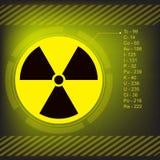 Radiation warning symbol  Stock Photo