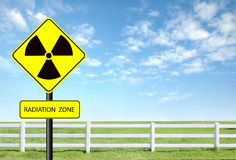 Radiation warning symbol Royalty Free Stock Photo