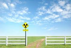 Radiation warning symbol Royalty Free Stock Photography