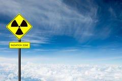 Radiation warning symbol Stock Photos