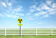 Radiation warning symbol Royalty Free Stock Photos