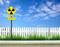 Radiation warning symbol Stock Images