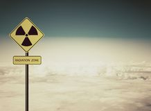 Radiation warning symbol Royalty Free Stock Images