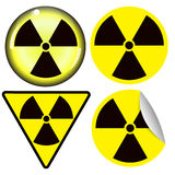 Radiation warning symbol Stock Photo