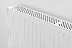 Radiator. Close up modern radiator - source of heat royalty free stock photos