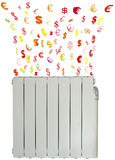 Radiator. Expense example an electric radiator Royalty Free Stock Image