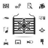 radiator in autopictogram Gedetailleerde reeks auto repear pictogrammen Grafisch het ontwerppictogram van de premiekwaliteit Één  vector illustratie