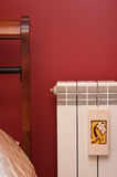 Radiator in bedroom Stock Photos