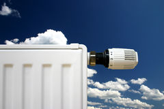 Radiator on a blue sky Royalty Free Stock Photo