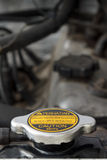 Radiator Cap: Never Open When Hot Stock Images