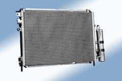 Radiator. Car new radiator, isolated automotive spare part Stock Image