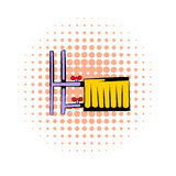 Radiator comics icon. On a white background Stock Photo