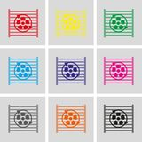 Radiator cooling system icon stock vector illustration flat design Stock Photo