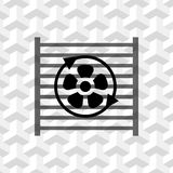 Radiator cooling system icon stock vector illustration flat design Royalty Free Stock Photography
