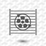 Radiator cooling system icon stock vector illustration flat design Stock Photos
