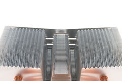 Radiator cooling system for a powerful processor Stock Images