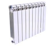 Radiator die over een witte achtergrond wordt geïsoleerdw Stock Foto's