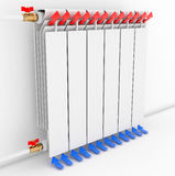 Radiator. Directional arrows Convention 3D illustration Stock Photos