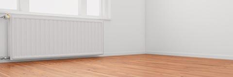 Radiator in empty room Stock Images