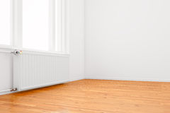 Radiator in empty room Royalty Free Stock Images