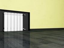 Radiator in an empty room Stock Photos