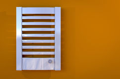 radiator gives warmth of home bathroom Stock Photography