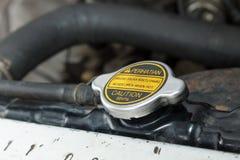 Radiator GLB: Open nooit wanneer Heet Stock Foto's