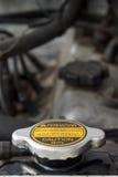 Radiator GLB: Open nooit wanneer Heet Stock Afbeeldingen