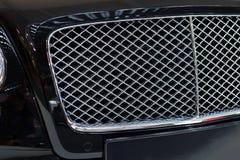 Radiator grill of luxury sportscar Stock Images