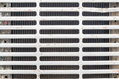 Radiator grille in front of car Royalty Free Stock Images