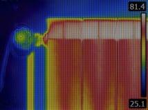 Radiator Heater Thermal Image Royalty-vrije Stock Afbeelding