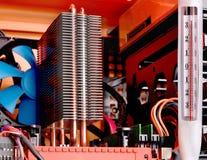 Radiator het koelen op de computer Royalty-vrije Stock Foto's