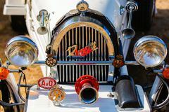 Radiator of a historical Bugatti car royalty free stock images