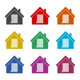 Radiator in house icon, color icons set. Simple vector icon Stock Images