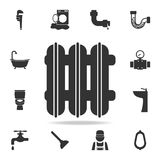 Radiator icon. Detailed set of plumber element icons. Premium quality graphic design. One of the collection icons for websites, we vector illustration