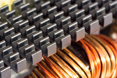 Radiator and inductance coil Royalty Free Stock Photos