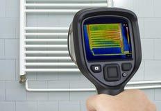 Radiator Infrared Measuring stock image