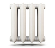 Radiator isolated on white background. 3d rendering. Royalty Free Stock Photos