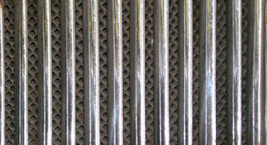 Radiator lattice of the car of 30 years Royalty Free Stock Photos